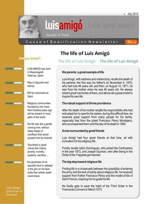 Life and work Luis Amigó No. 02