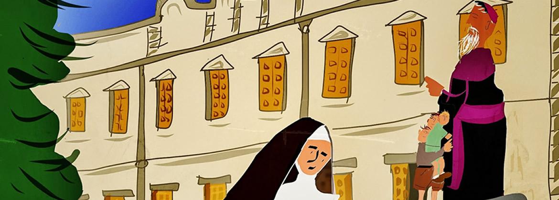 Obra de arte realizada por los alumnos del Colegio de las Hermanas Terciarias Capuchinas